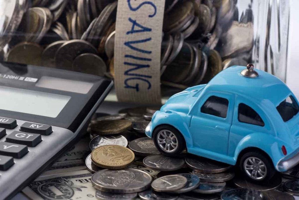 Car with calculator and determing savings and costs